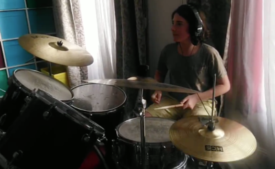 13 year old Eugenio freestyling on the drums