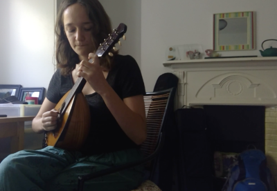 Young musician, Mía Iles Pérez plays folk tune The North Downs Way by Chris Wood