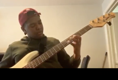 13 year old Tyrique Gabbidon plays bass guitar to Beyonce track, Find Your Way Back