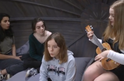 Dixie, Emily, Imogen & Tara performing a beautifully stripped back acoustic piece 'Listen and Learn' which was written and recorded entirely by the young artists on the theme of #climatechange, #youthactivism and is a response to the media's negative portrayal of Greta Thunberg