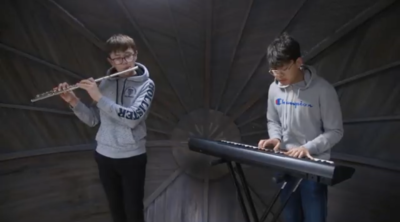 Joe and Yip with a piano and flute duet of Toutes Les Nuictz by Thomas Crecquillon