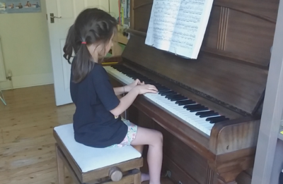 Martha Hibberd (age 8), playing Shadows by Walter Carroll on the piano
