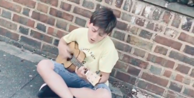 Luke Charalambous (age 10) playing ukulele and singing Counting Stars by One Republic. The video is shot by Luke's friend Ellis Granville (age 11).