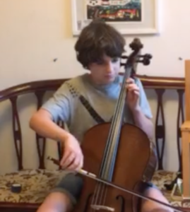 Reuben Hills (age 10) playing The Trumpet Hornpipe, a traditional English folk tune on the cello