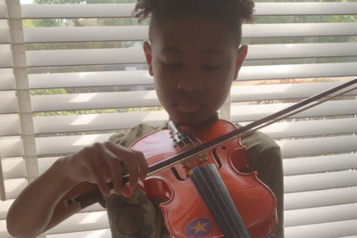 Trey (age 10) playing Ode to Joy by Ludwig Van Beethoven on the violin